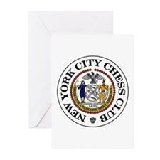 NYC Chess Club Greeting Cards (Pk of 10)
