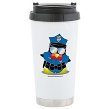 Police Penguin Ceramic Travel Mug