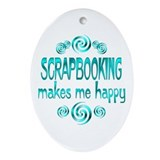 Scrapbooking Ornament (Oval)