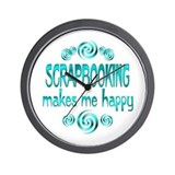 Scrapbooking Wall Clock