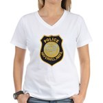 Haverhill Mass Police Women's V-Neck T-Shirt