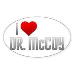 I Heart Dr. McCoy Sticker (Oval 50 pk)