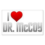 I Heart Dr. McCoy Sticker (Rectangle)