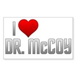 I Heart Dr. McCoy Sticker (Rectangle 50 pk)