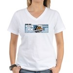 0544 - Flying too low Women's V-Neck T-Shirt