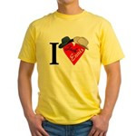 I [heart Jack+Ennis] + hats Yellow T-Shirt