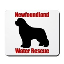 Water Rescue with Silhouette Mousepad
