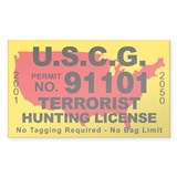 U.S.C.G. Terrorist Hunting License Decal