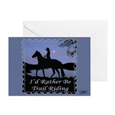 Moonlight Trail Riding Greeting Cards (Pk of 10)