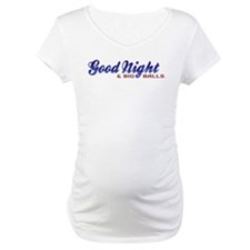 Good Night with Water Drops Maternity T-Shirt