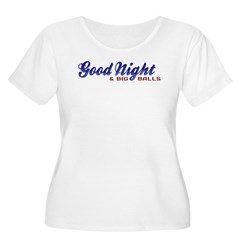 Good Night with Water Drops Women's Plus Size Scoo