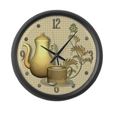 Coffee Break Time Large Wall Clock