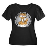 Diabetes Awareness Cat Women's Plus Size Scoop Nec