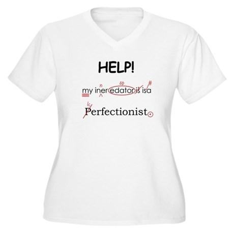 Perfectionist Editor Women's Plus Size V-Neck T-Sh