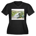 Santa Ana River Yeti Women's Plus Size V-Neck Dark