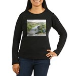 Santa Ana River Yeti Women's Long Sleeve Dark T-Sh
