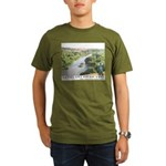 Santa Ana River Yeti Organic Men's T-Shirt (dark)