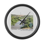 Santa Ana River Yeti Large Wall Clock