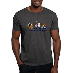 Snow Penguins Dark T-Shirt