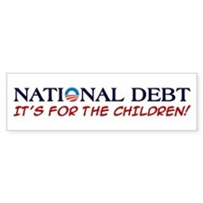 Obama National Debt, Bumper Sticker