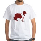 BORDER COLLIE LINE ART RED SHEEPDOG Shirt