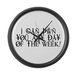 Pwn You Any Day Large Wall Clock