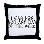 Pwn You Any Day Throw Pillow