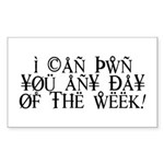 Pwn You Any Day Sticker (Rectangle)
