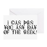 Pwn You Any Day Greeting Cards (Pk of 10)