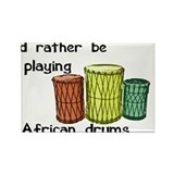 Funny African music Rectangle Magnet