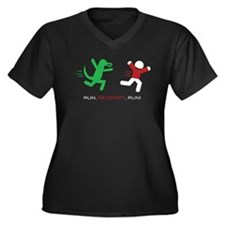 Run, Redshirt, Run! Women's Plus Size V-Neck Dark
