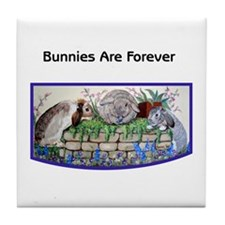 Bunnies Three Tile Coaster