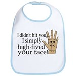 High Fived Face Bib
