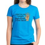 High Fived Face Women's Dark T-Shirt