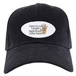 High Fived Face Black Cap