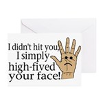 High Fived Face Greeting Cards (Pk of 10)