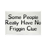 No Friggin Clue Rectangle Magnet (100 pack)