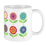 Retro Flowers Small Mugs