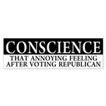 Conscience Republican Bumper Sticker