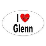 I Love Glenn Sticker (Oval 10 pk)