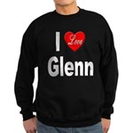 I Love Glenn (Front) Sweatshirt (dark)