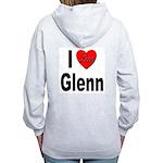 I Love Glenn (Back) Women's Zip Hoodie