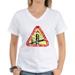 Starfleet Academy (worn look) Women's V-Neck T-Shi