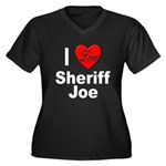 I Love Sheriff Joe (Front) Women's Plus Size V-Nec