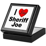 I Love Sheriff Joe Keepsake Box