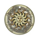 Celestial Sun Ornament (Round)