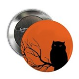 "VINTAGE HALLOWEEN OWL 2.25"" Button"