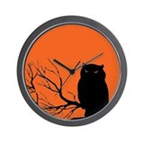 VINTAGE HALLOWEEN OWL Wall Clock