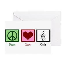 Peace Love Choir Greeting Card