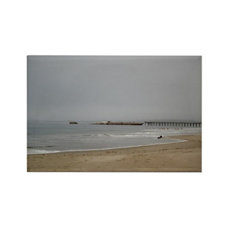 Rio Del Mar Fog Rectangle Magnet